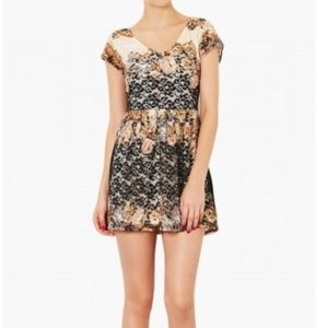 TOPSHOP floral lace tunic dress